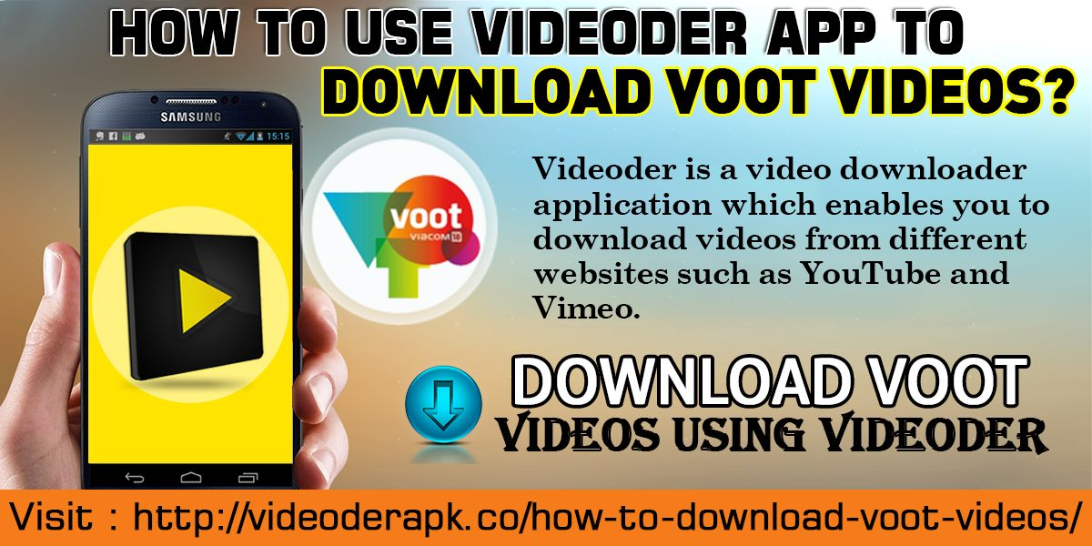 Pin by Videoder Apk on How To Download Videos From Voot On Videoder