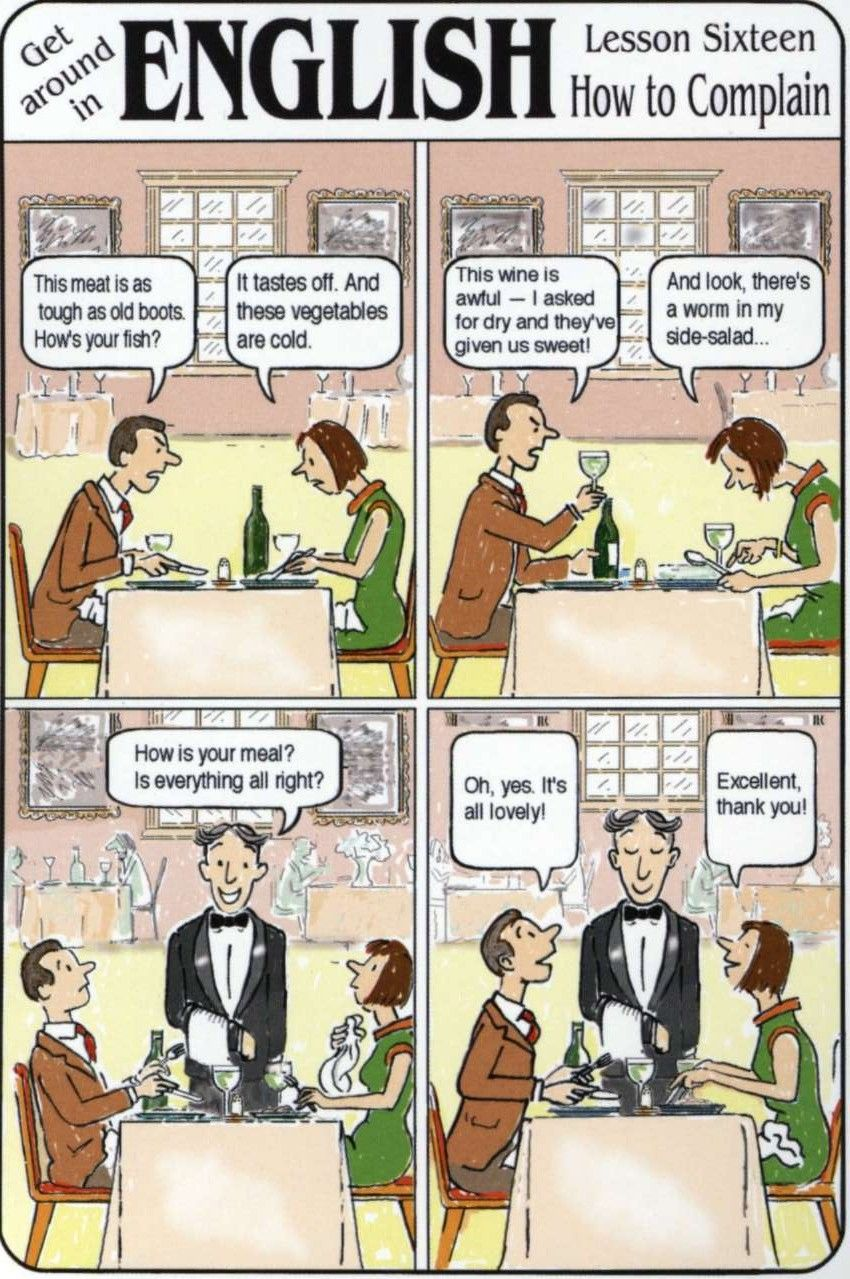 food - complaining at the restaurant - A2   Idioma ingles ...