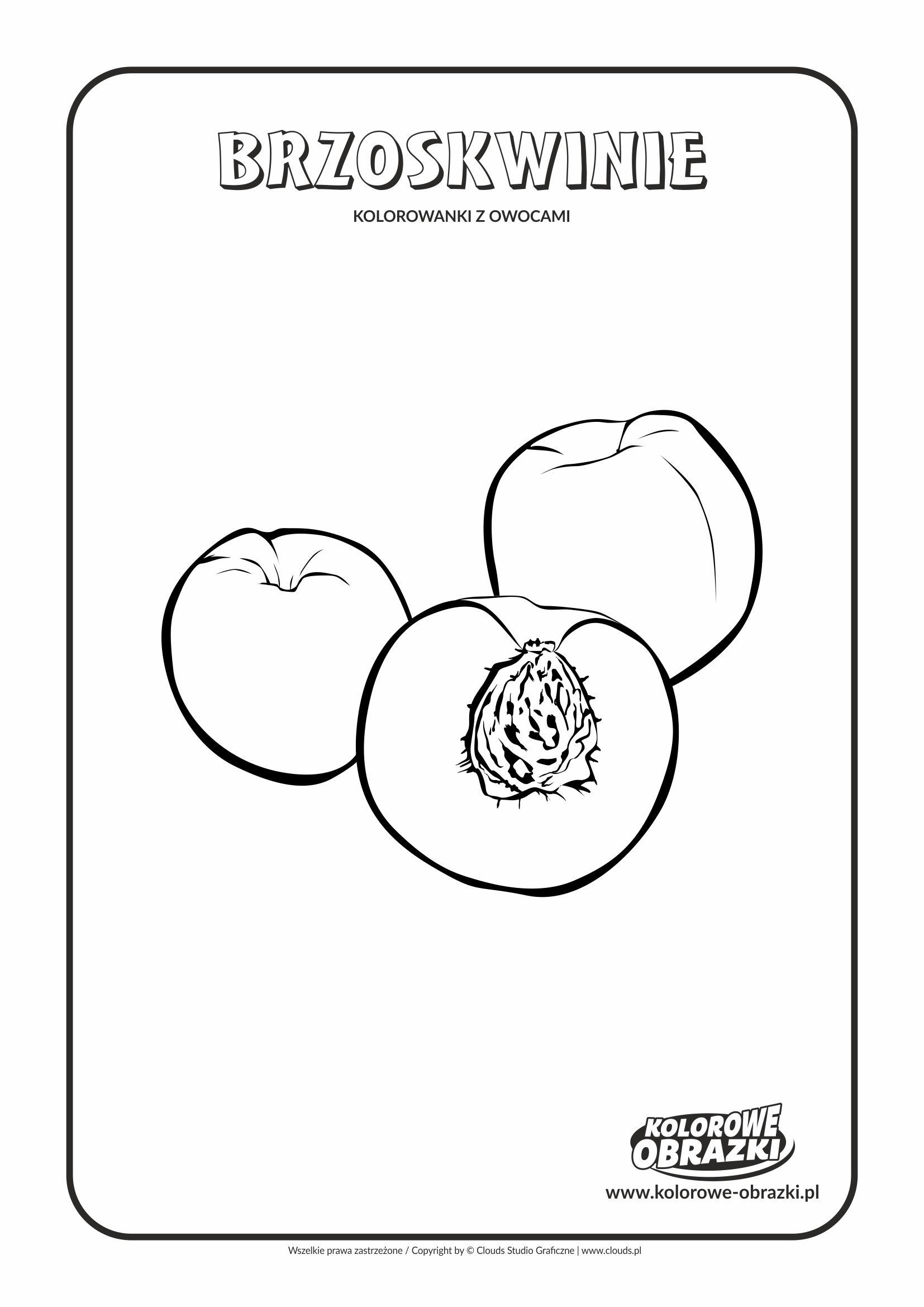 Brzoskwinie Kolorowanki Owoce Kolorowanki Dla Dzieci Chart Pie Chart