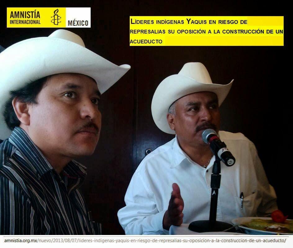 Órdenes de aprehensión contra líderes y voceros indígenas yaquis por oponerse al Acueducto Independencia en Sonora