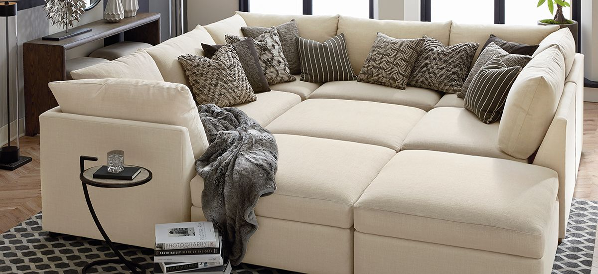 Sofa Pit Couch Tan Sleeper Sectional 6500 Bassettfurniture Staging Pinterest Room Living U