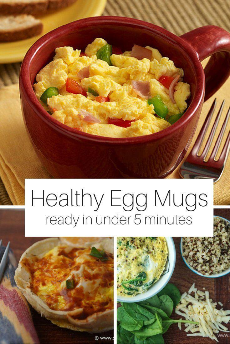 five healthy breakfast egg mugs