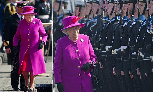 The Queen brightens up Plymouth as she visits HMS Ocean