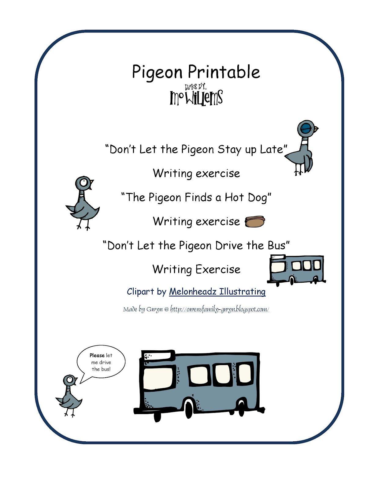 Pigeon Printable 3 Different Printable