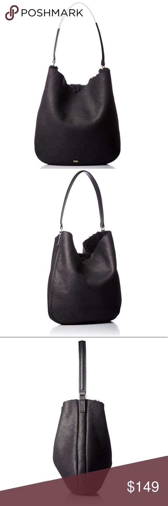 ️New Ugg Claire Hobo Sheepskin Black Bag Last 1 ️New Ugg
