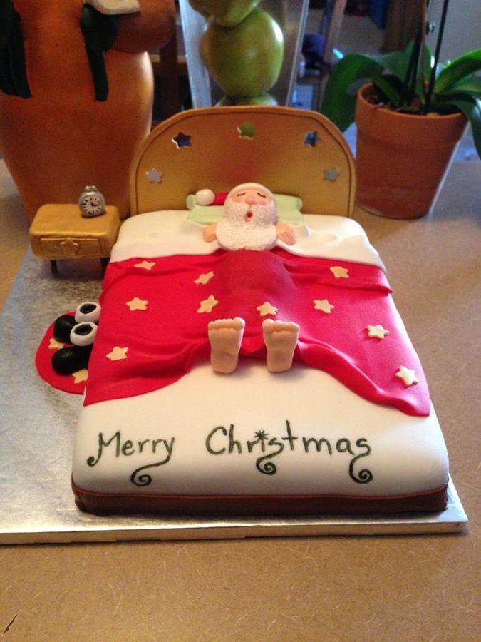 Santa Claus Cake Christmas Cake Pinterest Weihnachten Kuchen