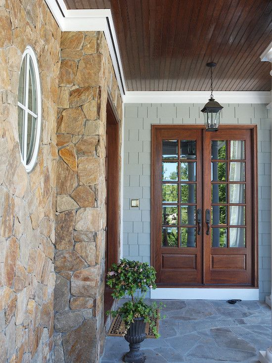 Traditional patio covered patio design pictures remodel - Traditional french doors exterior ...