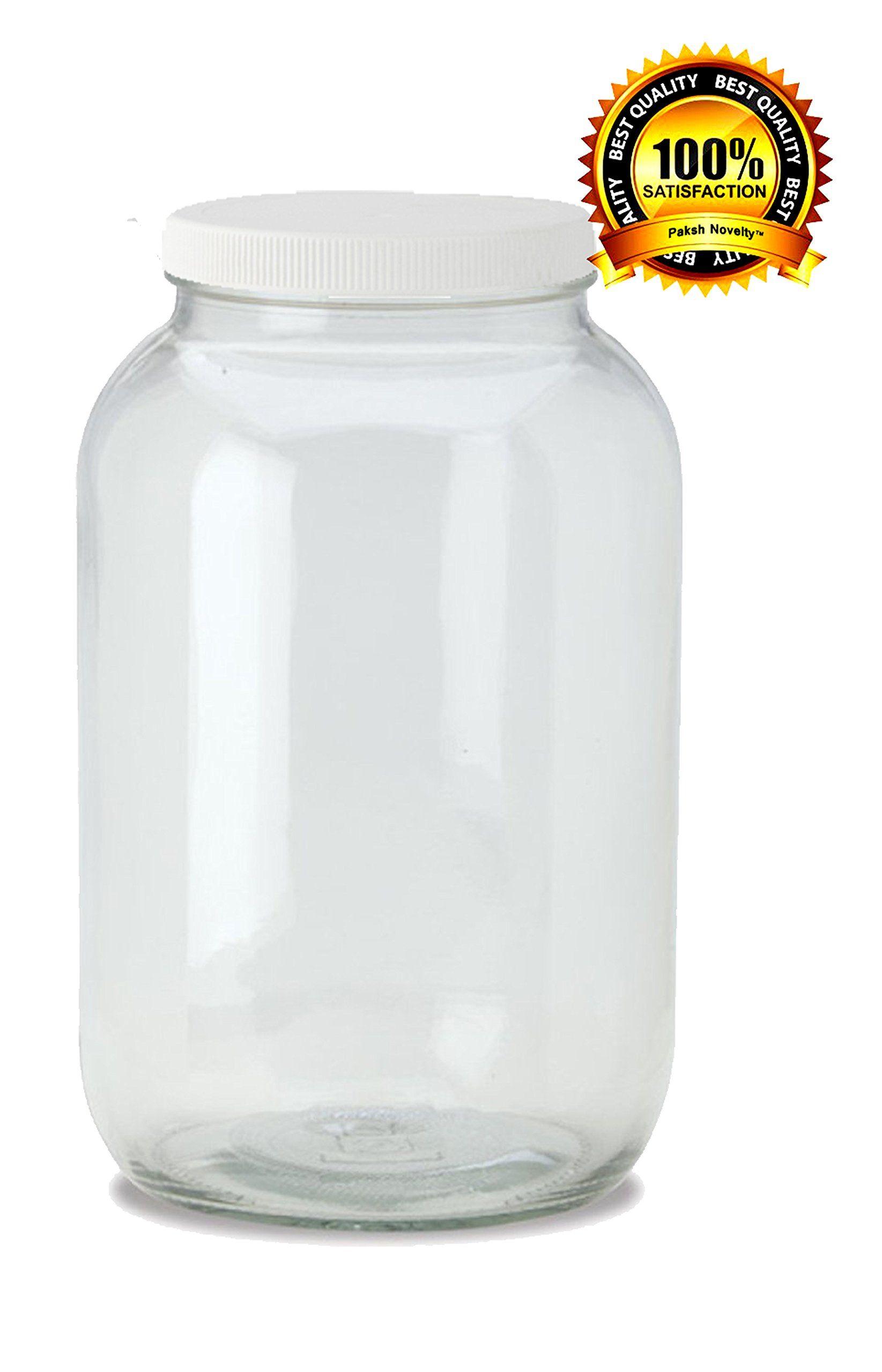 Amazon Com Paksh Novelty 1 Gallon Usda Kombucha Fermentation Glass Jar With White Plastic Lid Kitche Clear Glass Jars Gallon Glass Jars Kombucha Fermentation