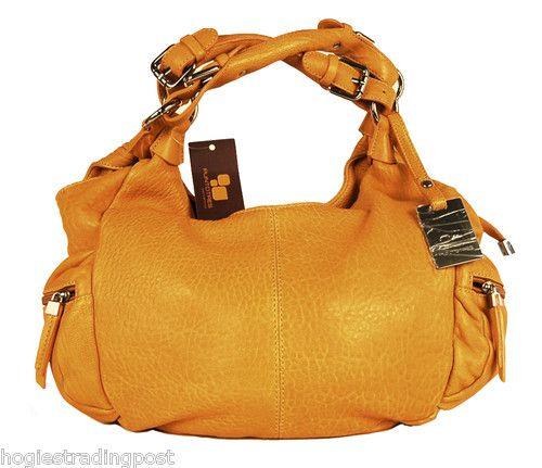 Puntotres Orange Designer Leather Handbag 6855233 Made In Spain Ebay