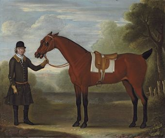 A Groom Holding A Saddled Bay Hunter In A Park A Country House Beyond By James Seymour C1702 1752 Hunting Painting Painting Art