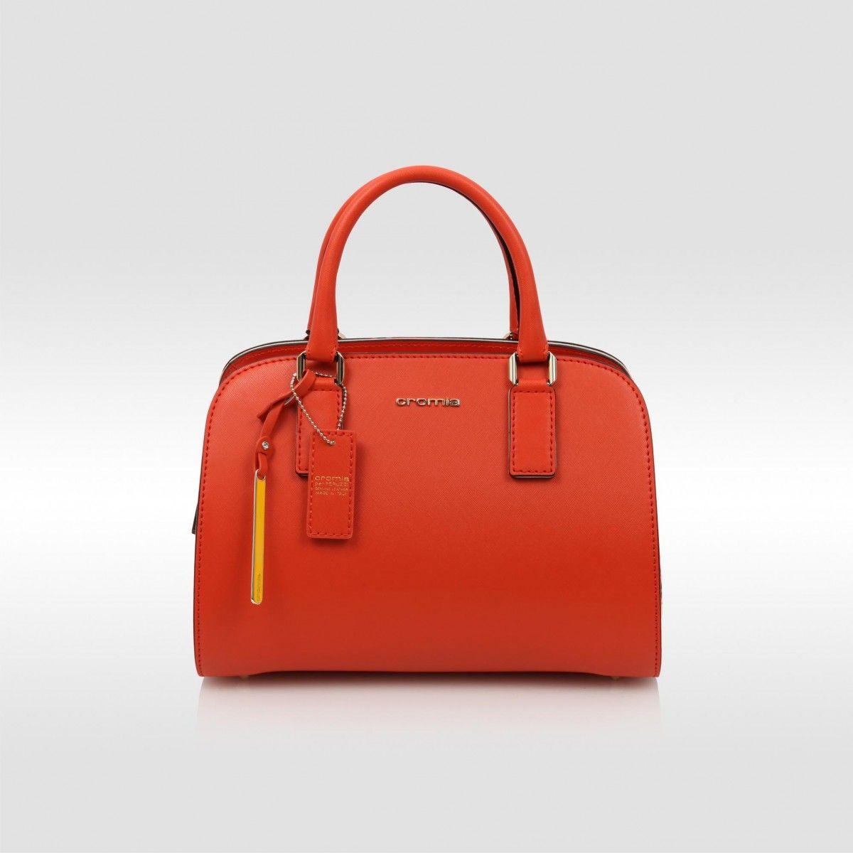 Cromia Orange Handbag