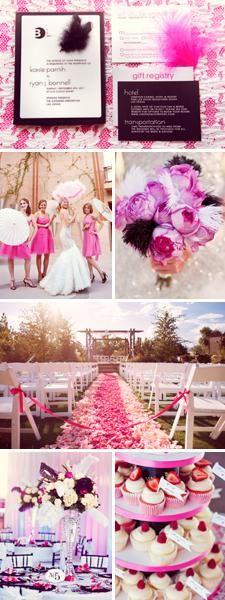 Vegas Wedding Inspiration Board: Pink, White and Black