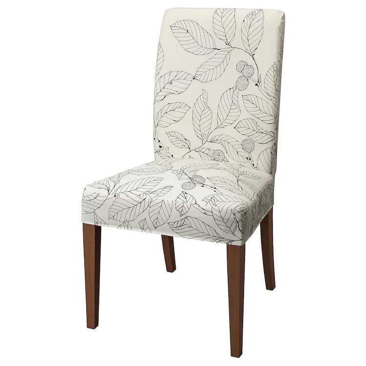 HENRIKSDAL Chair, brown, Vislanda black/white IKEA in