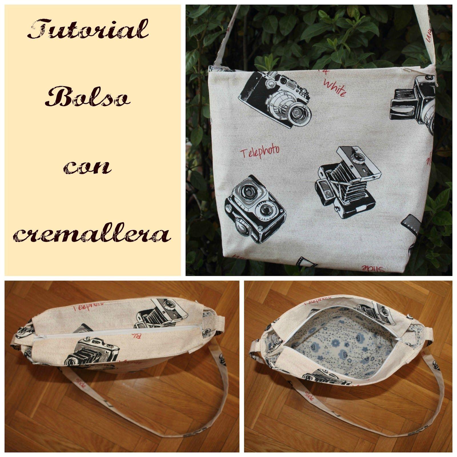 Mi Blog De Costura Tutorial Bolso Con Cremallera Bolso Con Cremallera Cremalleras Bolso