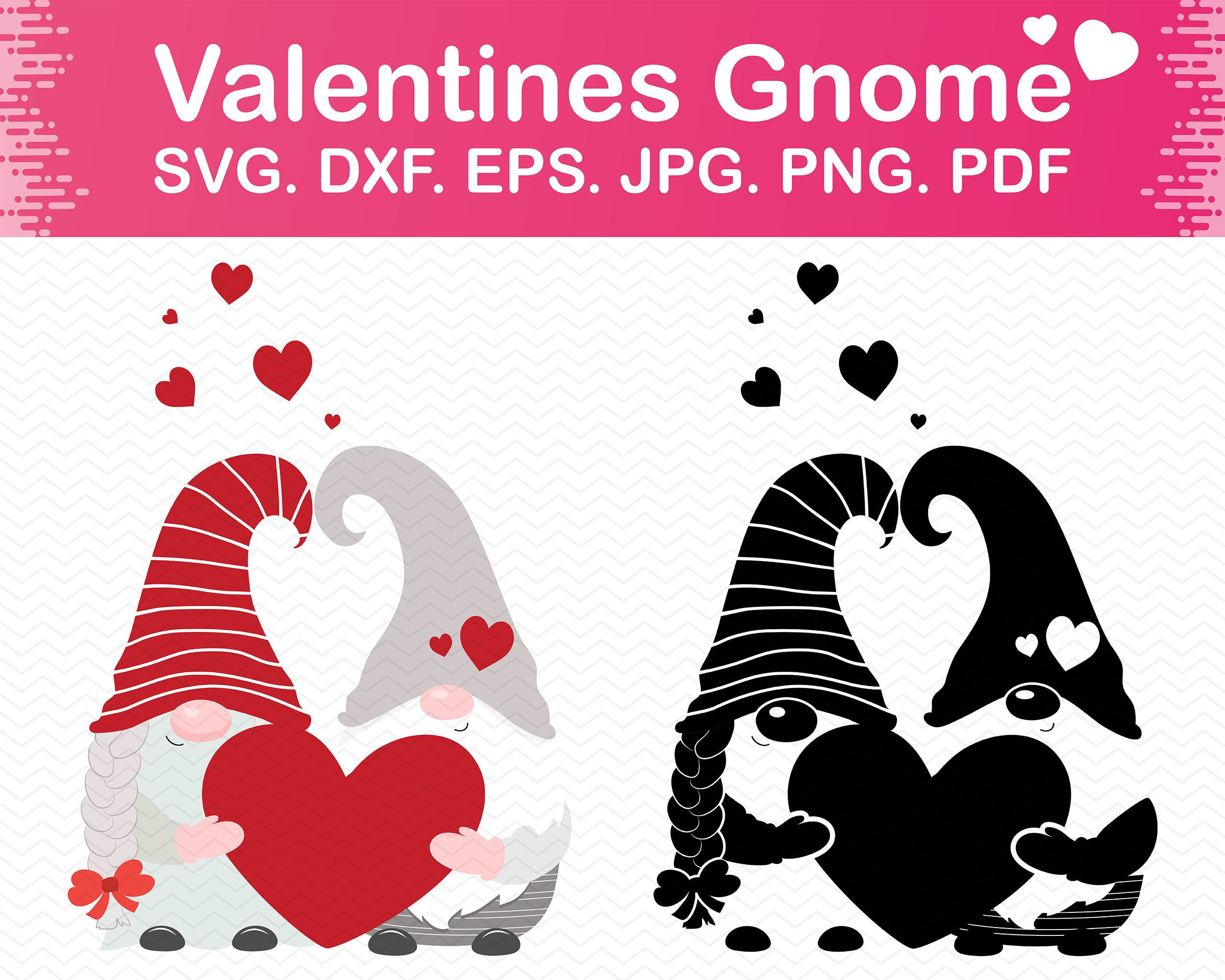Download Gnome valentine svg files for cricut, Valentines svg gnome ...