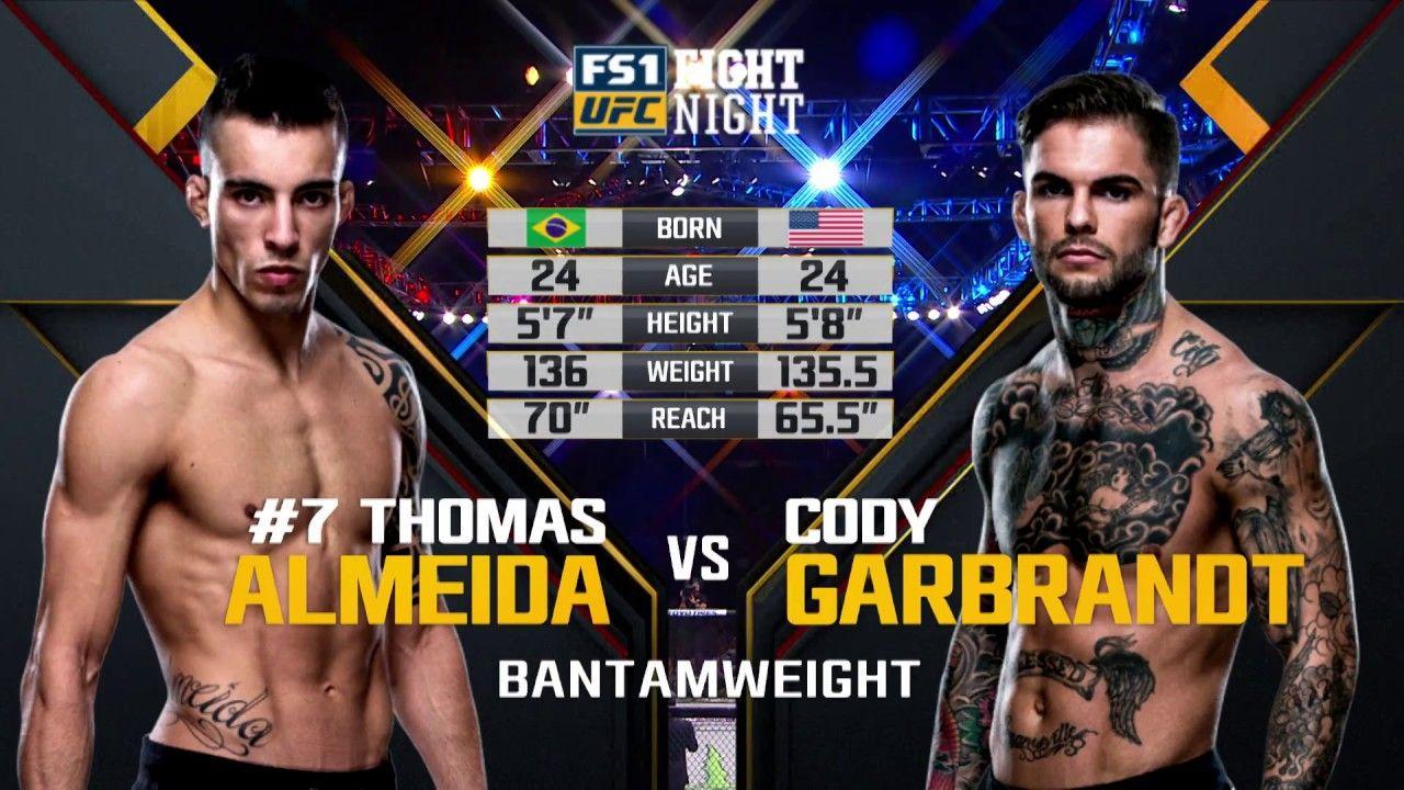 Ufc 227 Free Fight Cody Garbrandt Vs Thomas Almeida Youtube Ufc Night Ufc Ufc News