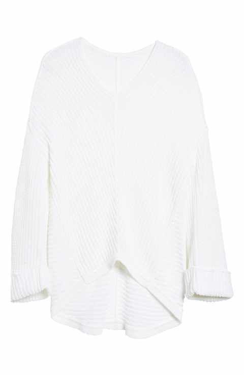Caslon® Cuffed Sleeve Sweater (Regular   Petite)  3728331c7