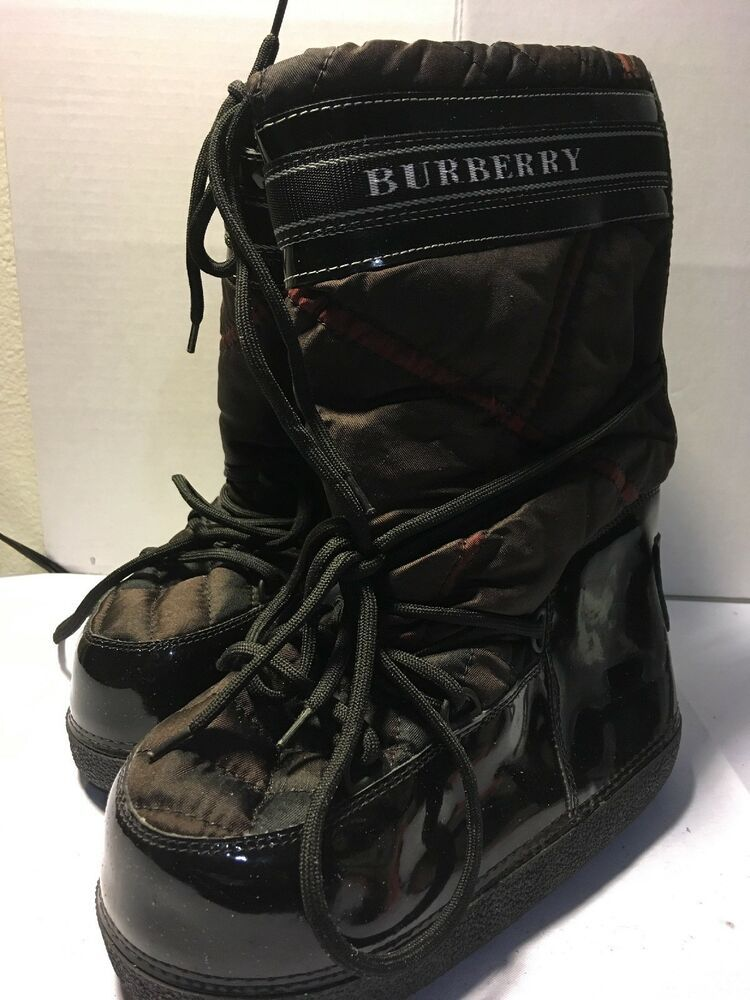 low priced 1bdbc 4f587 Burberry Moon Shoes Winter Boots 38/40 US - Moon Boots ...