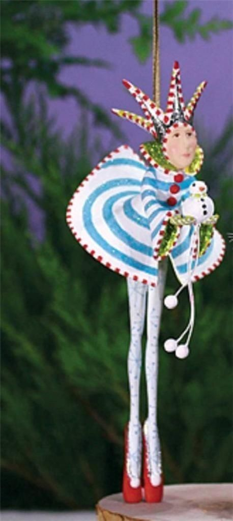 Patience Brewster Nutcracker Ballet Collection, Snow King Ornament is a cute and funky tree ornament!