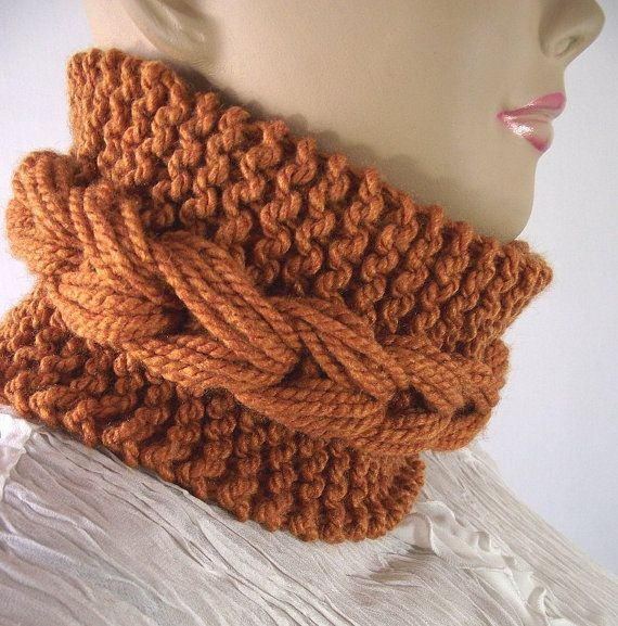 KNITTING COWL PATTERN Bulky knit scarf Cowl by LiliaCraftParty Knitting Kni...