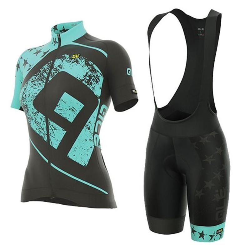 86556bfee 2018 ALE Cycling Jersey Short Sleeve Bib shorts suit women Bike mountain  mujer Clothing Set Maillot Bicycle Clothes uniform J18.