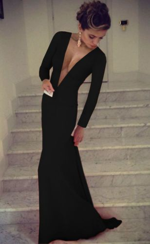 24d5ce21ef New-Sexy-Women-Long-Sleeve-Prom-Ball-Cocktail-Party-Dress-Formal-Evening- Gown