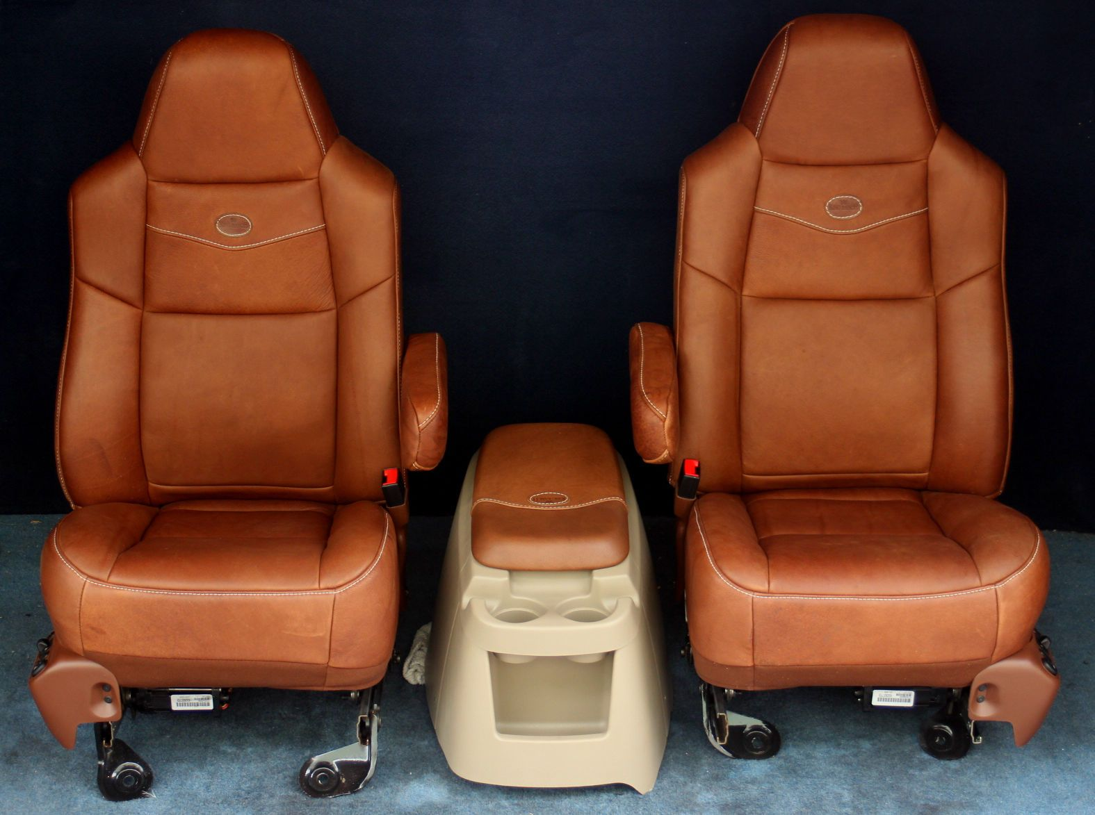 2007,2006, 2005, 2004 F250 F350 King Ranch Bucket Seat Leather ...
