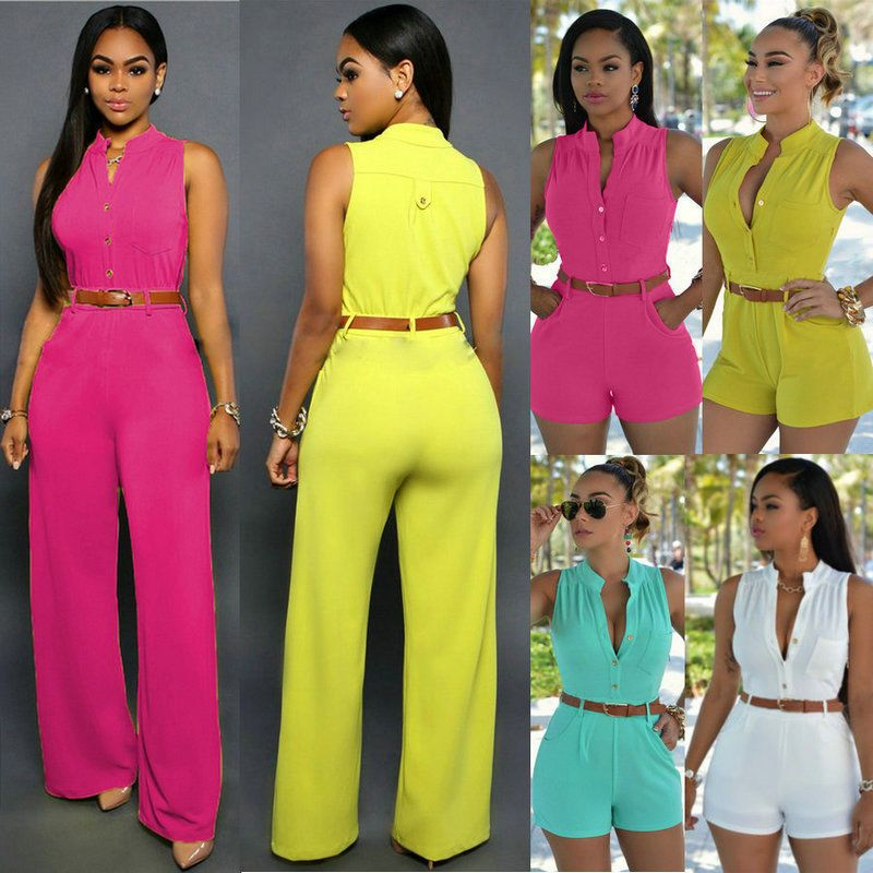 05d2777f66f Women Clubwear Summer Playsuit Bodycon Party Jumpsuit Romper Trousers Shorts