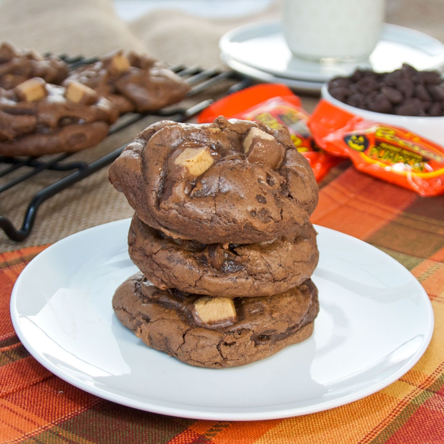 reese s peanut butter cup brownie cookies peanut butter cup