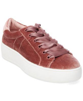 98dc20b65eb STEVE MADDEN Steve Madden Women S Bertie Velvet Lace-Up Sneakers.   stevemadden  shoes   all women