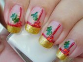 Photo of Holly Christmas  Nail Art Gallery by www.nailsmag.com #nailart