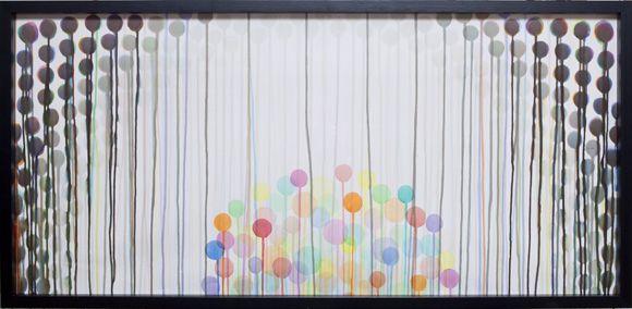 Kevät 2009, akvarelli paperille 70 x 130 cm