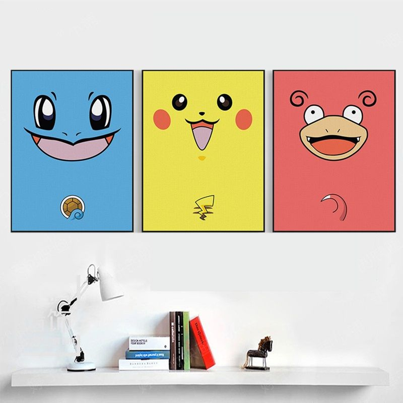 Modern Kawaii Cartoon Animal Art Prints Poster Cartoon Wall Pictures ...