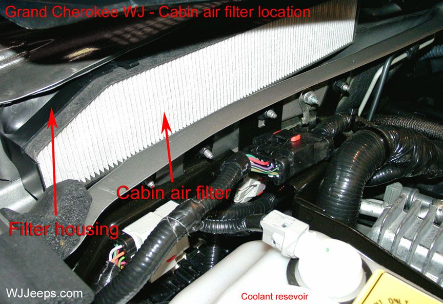 Jeep Grand Cherokee Wj Cabin Air Filtration System Cabin Air