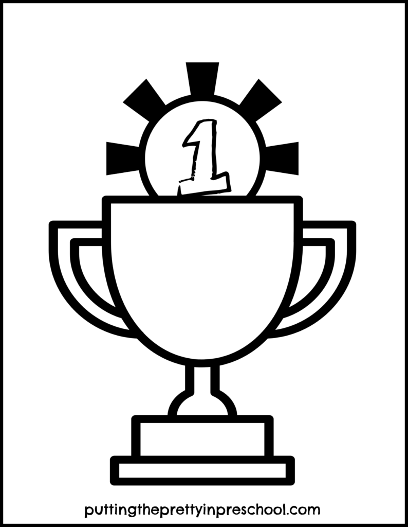 Trophy printable to decorate. An all ages activity. #