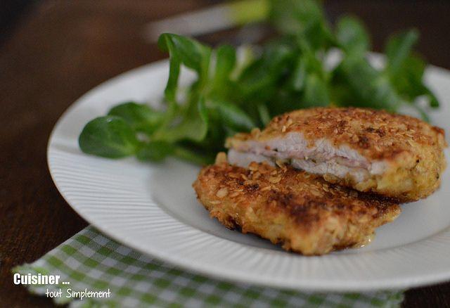 Cordon bleu comt pesto viandes pesto escalope de poulet et poulet - Escalope cordon bleu maison ...