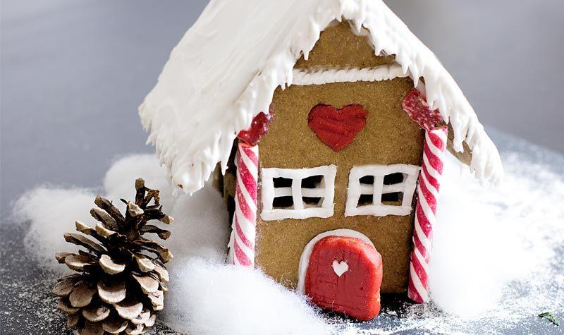Lebkuchenhaus zu weihnachten