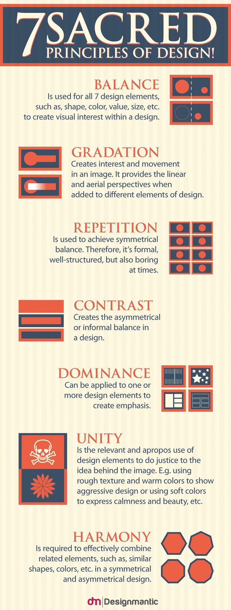 Web Design Basics 7 Sacred Principles Of Design To Follow Infographic Design Basics Principles Of Design Web Design Quotes