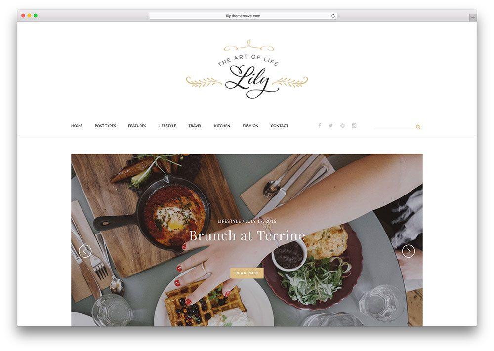 Lily minimal wordpress food blog wordpress theme   Photography ...