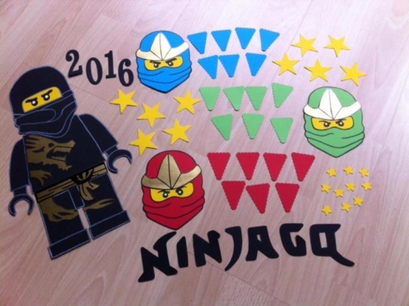 bastelset schultüte ninjago schwarz ninja figuren