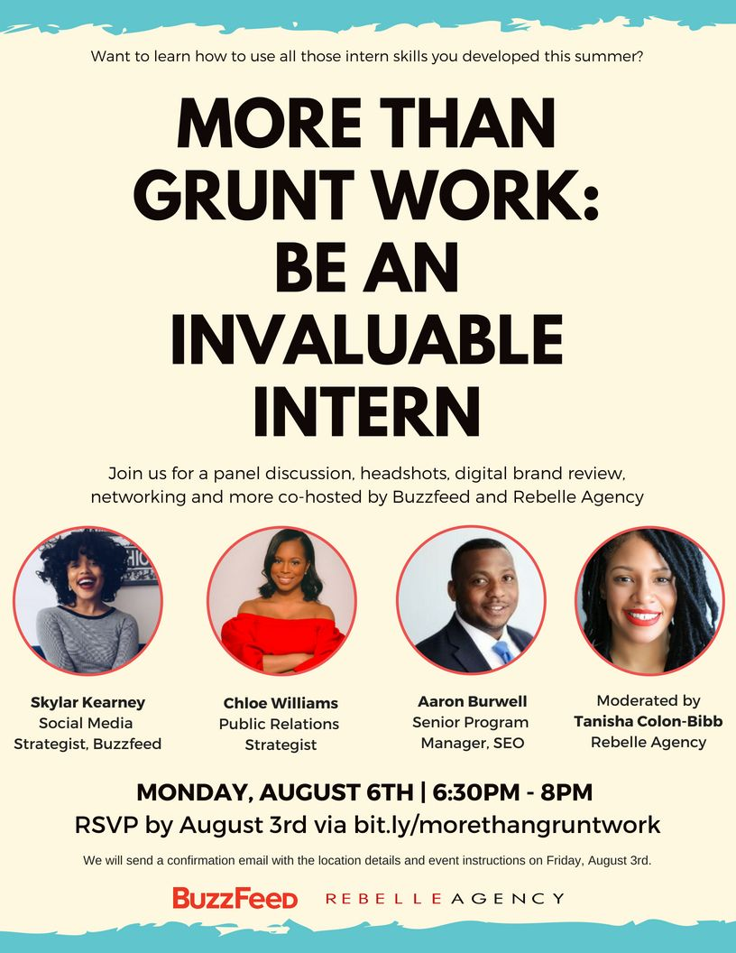 more than grunt work be an invaluable intern are you a nyc intern or student join rebelle agency and buzzfeed b kearney going back to school chloe williams pinterest