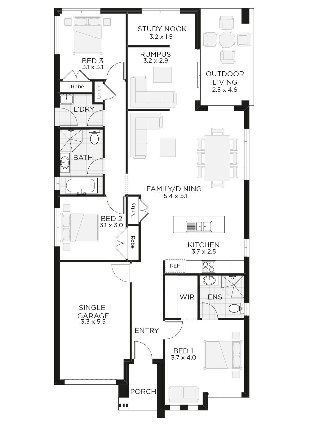 San Remo Home Floor plans, House design, Walk in pantry