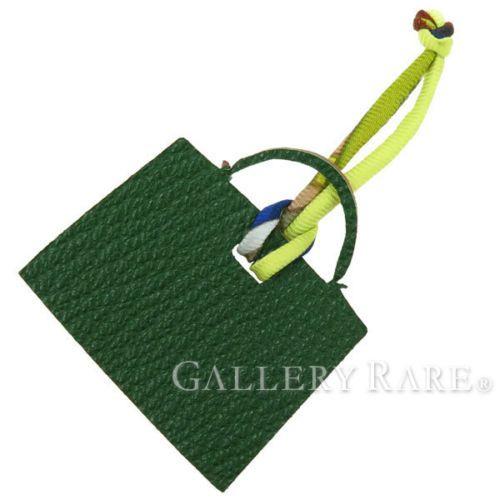 Authentic-Hermes-Bag-Charm-Petit-H-PM-Chevre-Green-Brique-Bag-Motif-GR-1654981