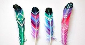 How to Make Beautiful DIY Painted Feathers