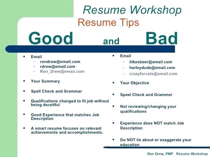 good and bad resume examples \u2013 Minimfagency good and bad
