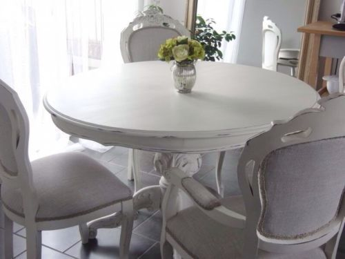 Gorgeous French Style Shabby Chic Round Dining Table Only Painted Annie  Sloan