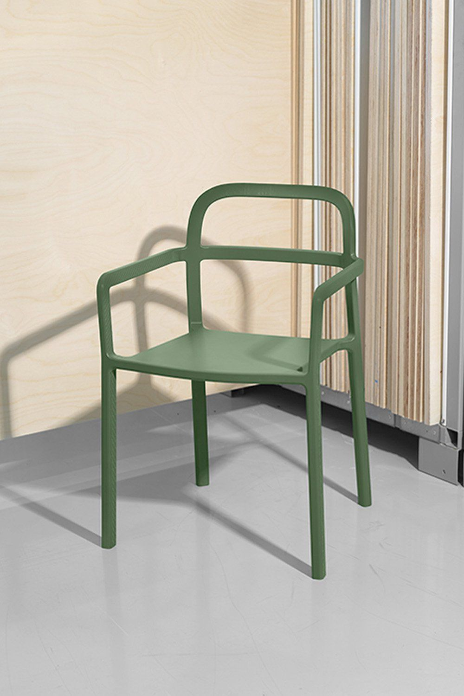 chaise design verte ikea hay bistro