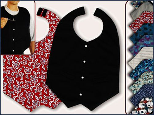 SEVERAL STYLES! SEWING PATTERN MEN~WOMEN MAKE ADULT CLOTHING PROTECTORS~BIBS