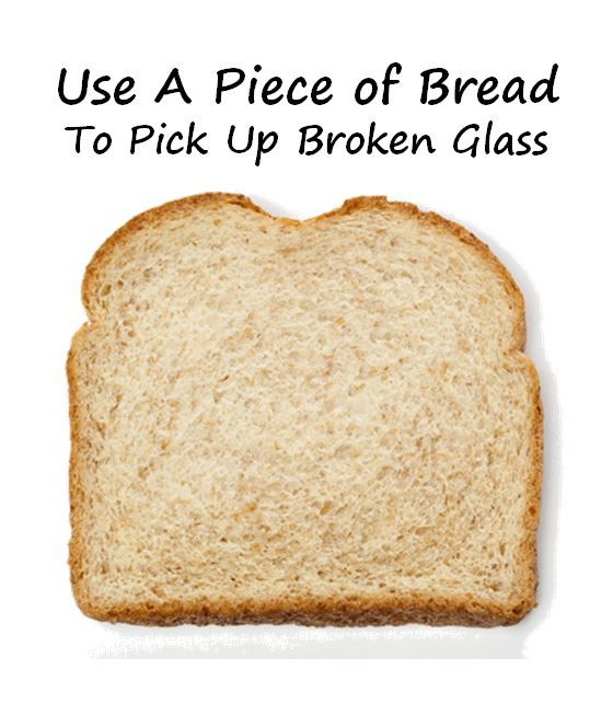 Safety Trick: Use a Piece of of Bread to Pick Up Broken Glass #safety