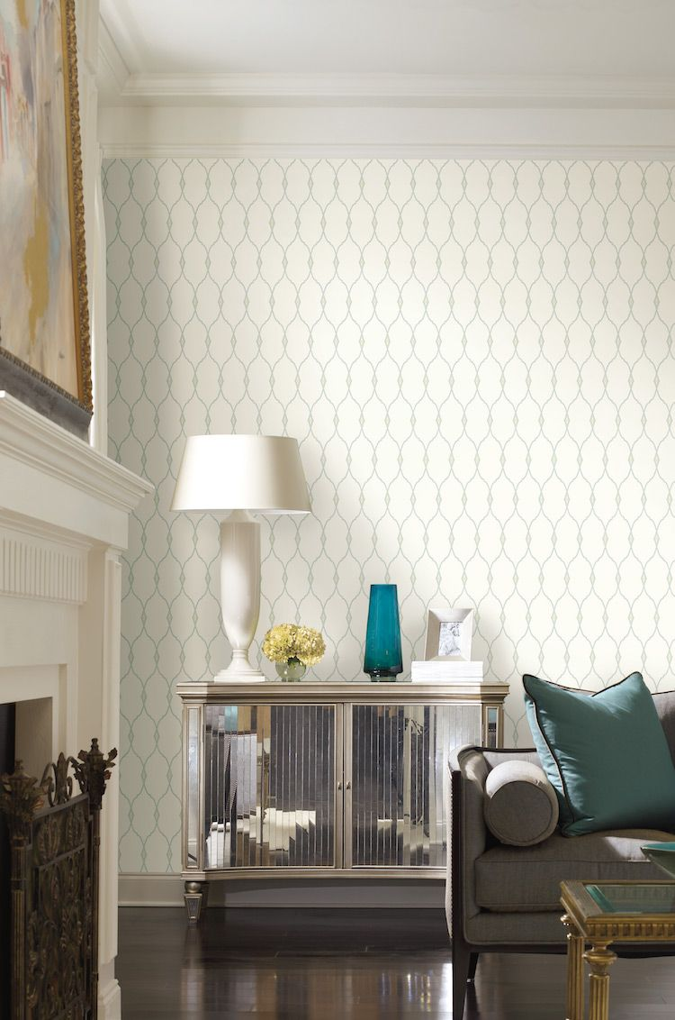 50089W Mirasol wall covering displays a graceful, surface-printed ...